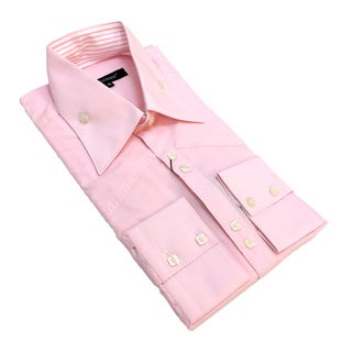 Bogosse Men's Long Sleeve Pink Button Down Shirt