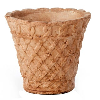 6-inch French Lattice Terra Cotta Pot