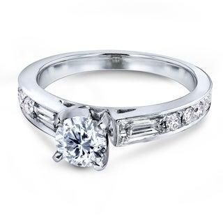 Annello 14k White Gold 1ct TDW Round Diamond Engagement Ring (H-I, I1-I2)