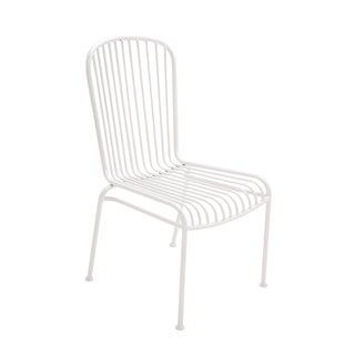 White Iron Patio Chair