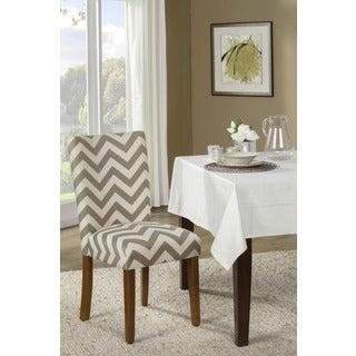 Parson Chevron Dining Chair (Set of 2)