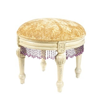 French Heritage Ange Round Gold Footstool