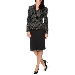 Danillo Women's 2 Piece Leopard Pattern Skirt Suit