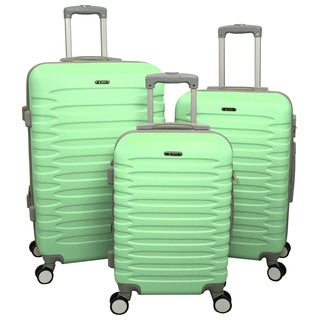 World Traveler Nantucket 3-piece Hardside Spinner Luggage Set With Combination Lock