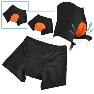 INSTEN Orange/ Black Men Silicone Gel 3D Padded Breathable Sport Exercise Bicycle Cycling Short Pants