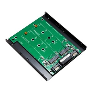 Syba 3.5-inch Mount Dual M.2 SSD Slot To Two SATA III Port Adapter