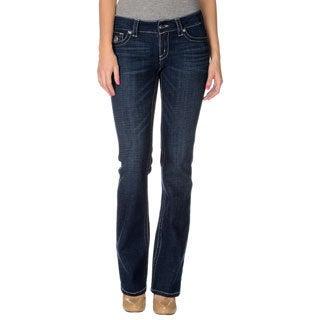 Seven7 Women's Contemporary 5 Pocket Boot Cut Denim Jeans