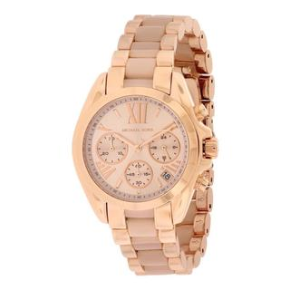 Michael Kors Women's MK6066 'Bradshaw' Rose Gold Tone Ion Plated Stainless Steel Watch