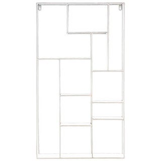 White Metal Wall Rack with 11 Shelves