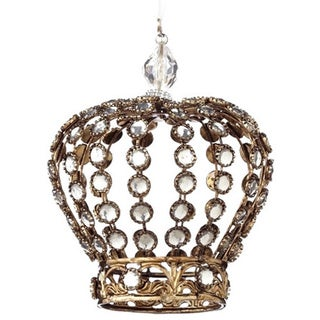 Jeweled Crown Ornament 4-inch (Pack of 24)
