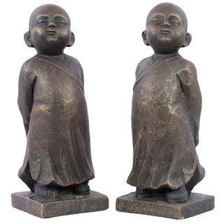 Bronze Fiberstone Buddha (Set of 2)
