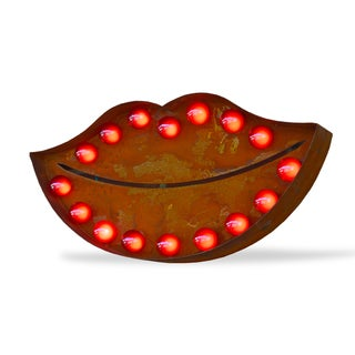 'Red Lips 2' Rusted Finish Iconic Marquee Sign