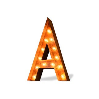 Letter A Rusted Finish Iconic Marquee Sign