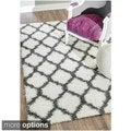 nuLOOM Alexa My Soft and Plush Modern Trellis Shag Rug (5'3 x 7'6)