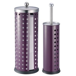 Toilet Brush Holder and Toilet Paper Holder Set