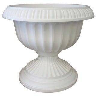 Bloem 18-inch Grecian White Pedestal Urn