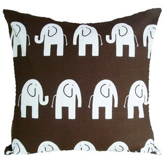 Nursery Elephants Brown Cushion Cover