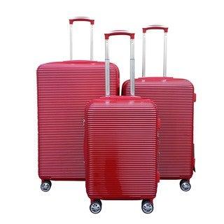 Malibu 3-Piece Lightweight Hardside Spinner Luggage Set with TSA Combination Lock