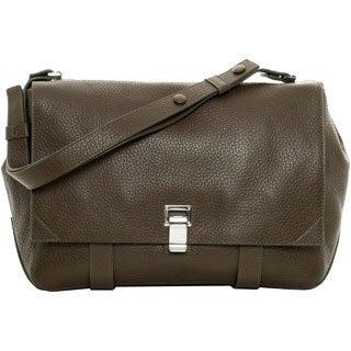 Proenza Schouler 'Coursier' Large Dark Moss Leather Shoulder Bag
