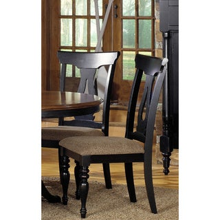 Bourbon Street Black Pecan Keyhole Dining Chairs (Set of 2)