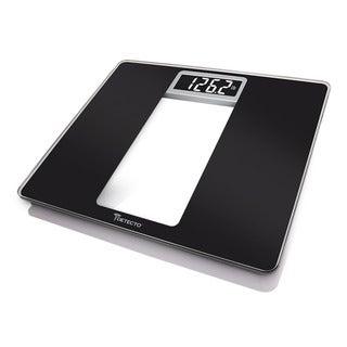 Detecto Black Glass LCD Digital Wide Body Bathroom Scale