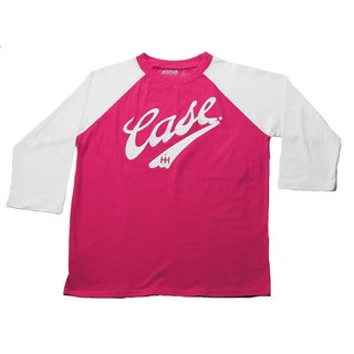 Case IH Girls Magenta Embroidered Baseball Style Top