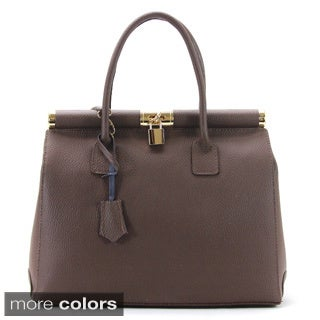 Chasse Wells 'Riche Et Chance' Italian Genuine Leather Tote