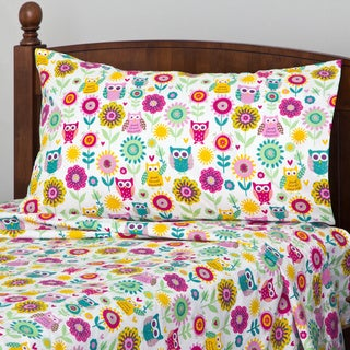 Owl and Flower Printed Sheet Set