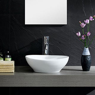 Somette Fine Fixtures Vitreous China Round Modern Vessel Sink