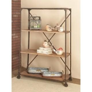 Metal/ wood Rolling Storage Shelf