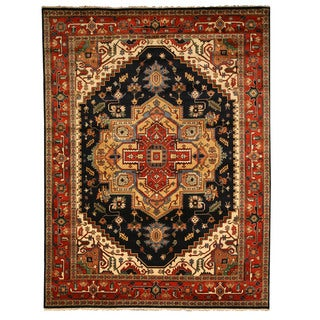 Hand-knotted Serapi Red Wool Rug (9' x 12')