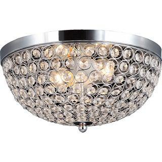Elegant Designs 2-light Elipse Crystal Flush Mount