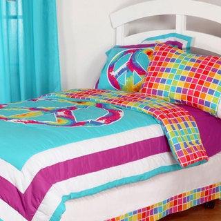 One Grace Place Terrific Tie Dye Cotton Comforter