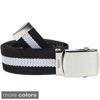 Unisex Striped Canvas Web Belt