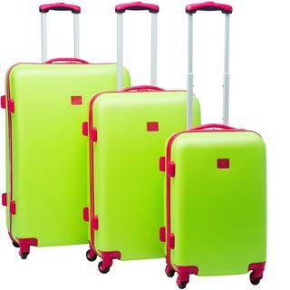 Anne Klein Palm Springs 3-piece Hardside Spinner Luggage Set