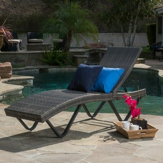 Christopher Knight Home San Marco Outdoor Wicker Chaise Lounge