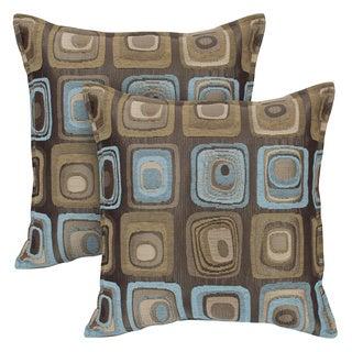 Sherry Kline Retro Spa Blue 20-inch Decorative Throw Pillows (Set of 2)