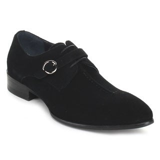 Unique Men's HX718-302 Black Lace-Up Oxford Dress Shoes