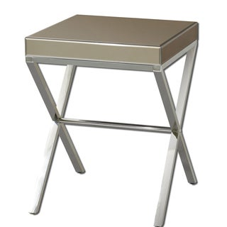 Uttermost Lexia Modern Bronze Mirror Side Table