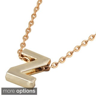 Zodaca Golden Alphabet Pendant Initial Letter Necklace (18.5 - 20.5 inch)