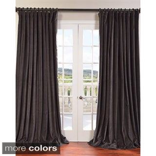 Extra Wide Vintage Cotton Velvet Curtain Panel