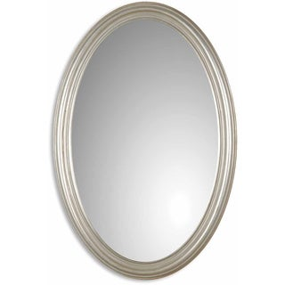Uttermost Franklin Oval Silver Wall Mirror
