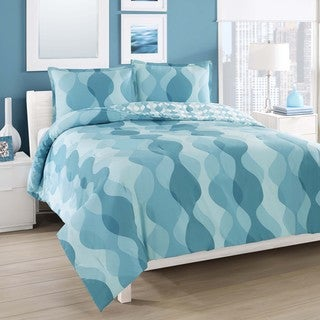 City Loft Good Vibes Cotton Reversible 3-piece Comforter Set
