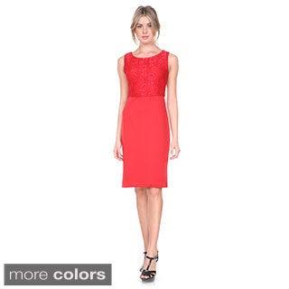 Stanzino Women's Two Tone Sleeveless Cocktail Dress