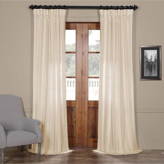 Cayman Striped Linen Sheer Curtain Panel