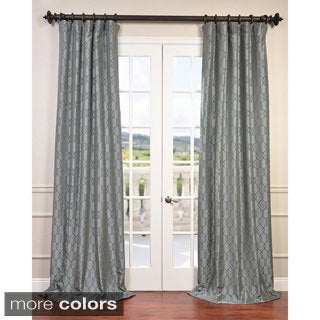 Meridian Flocked Faux Silk Taffeta Curtain Panel
