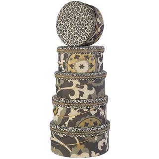 Leopard Heirloom Hat Boxes (Set of 5)