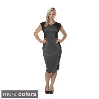 Stanzino Women's Missy Colorblocked Sleeveless Midi Dress