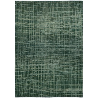 Pantone Universe Expressions Abstract Blue/ Green Rug (6'7 x 9'1)