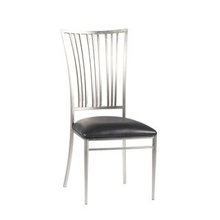Somette Ashton Black Fan Back Side Chair (Set of 2)